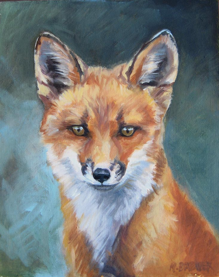 Red Fox (on green)
